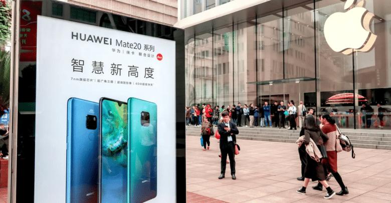 هواوي تتوقع انخفاض مبيعاتها إلى 100 مليار دولار