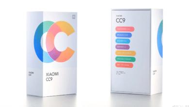 الكشف عن صورة لعلبة البيع بالتجزئة للهاتف الذكي Xiaomi CC9