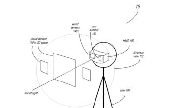 براءة اختراع تظهر نظارات الواقع الإفتراضي مدعمة بميزة تتبع تعبيرات الوجه