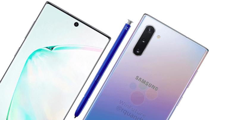 تسريب يكشف تصميم الهاتف الذكي Galaxy Note 10+ من سامسونج