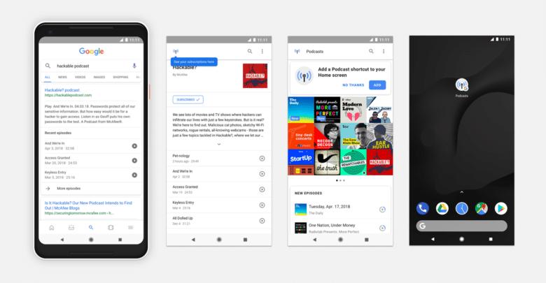 يمكنك الآن البحث عن ملفات بودكاست والاستماع إليها في جوجل