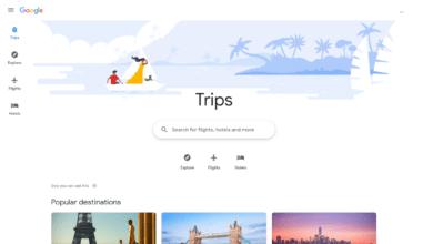 جوجل تريد منك أن تحجز رحلتك القادمة باستخدام أداة جديدة للسفر
