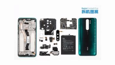 صور تكشف أجزاء مفككة من Redmi Note 8 Pro لشاومي