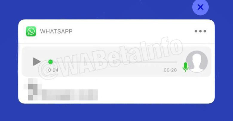 واتساب يعمل على اختبار ميزة تشغيل الصوت في الإشعارات