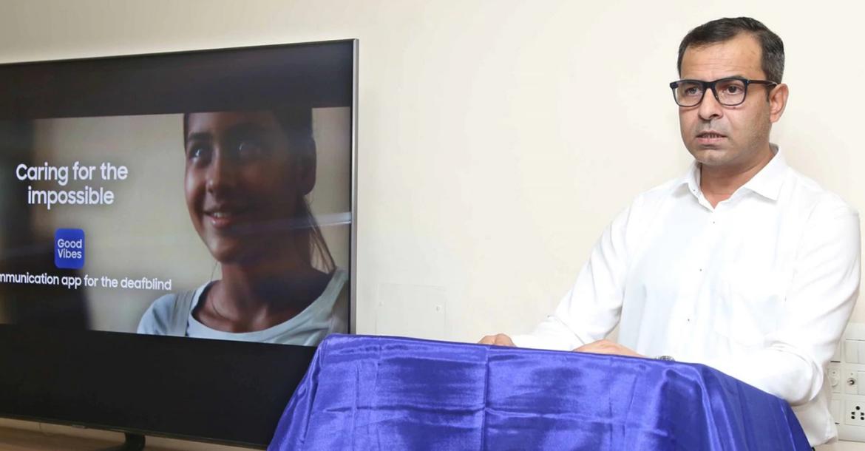 سامسونج تكشف عن تطبيق للصم المكفوفين وضعاف البصر في الهند