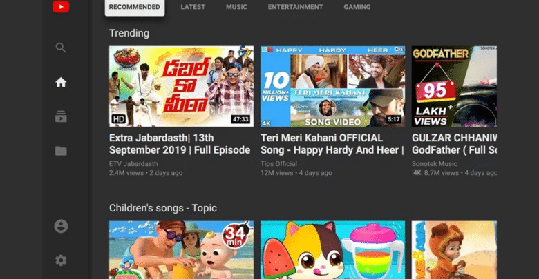 يوتيوب يوقف تشغيل واجهة التلفزيون Leanback