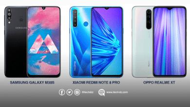 مقارنة بين Realme XT وRedmi Note 8 Pro وGalaxy M30s