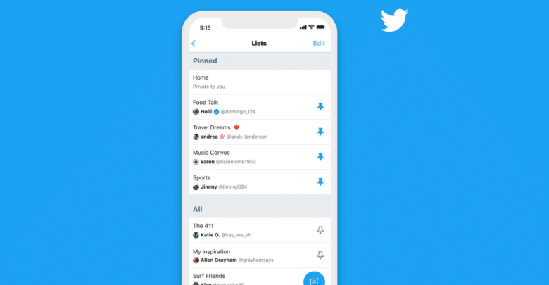 تويتر تتيح لمستخدميها إمكانية تثبيت قوائمهم