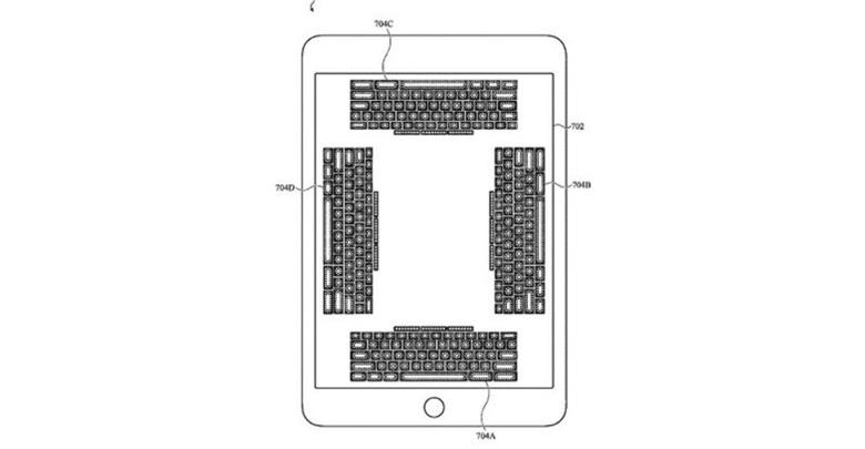 آبل تعمل على تقنية لوحة مفاتيح افتراضية جديدة